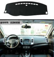 Per Mitsubishi outlander 2009-2012 Destra e Mano Sinistra Drive Auto Cruscotto Coperture Zerbino Ombra Cuscino Pad Tappeti Accessori