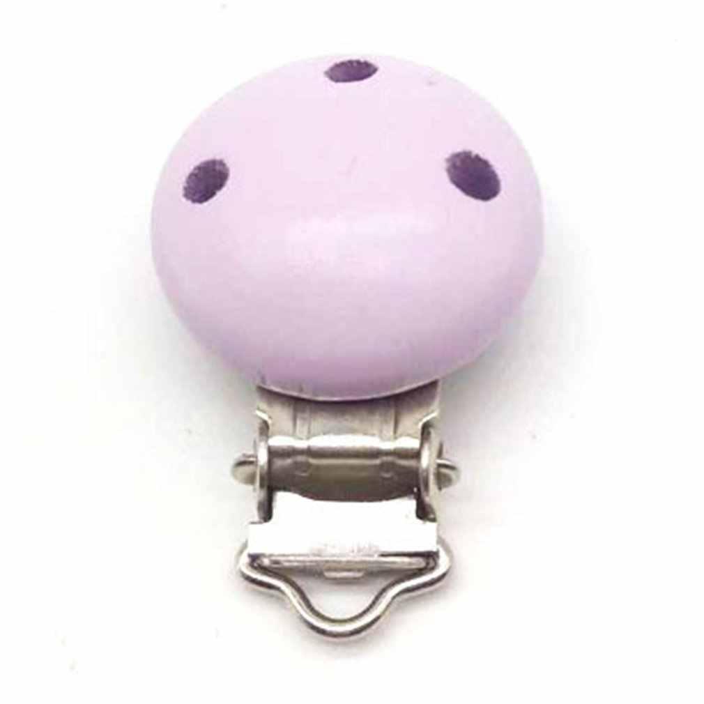 נייד גודל תינוק ילדים עץ חרוזים מוצץ בעל קליפ פטמת Teether Dummy רצועת שרשרת מוצץ קליפ שרשרת