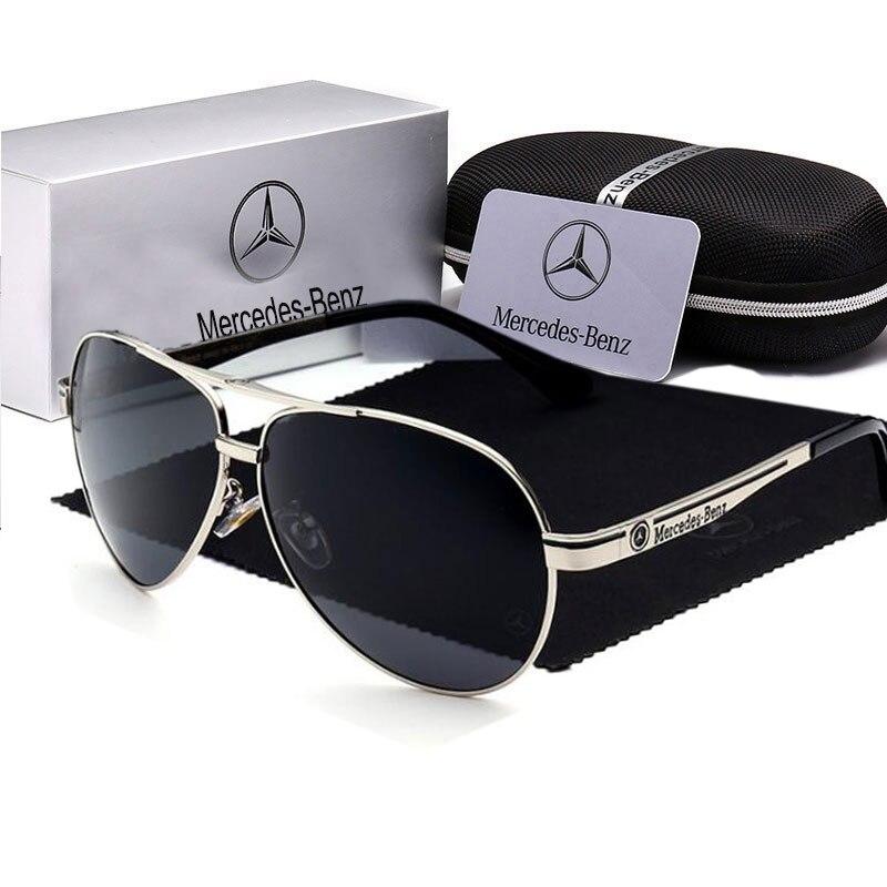 Óculos de sol Polarizados Dos Homens de alta qualidade uv400 de metal Grande Quadro Grife Óculos de Sol Oculos de sol óculos de Condução Pesca