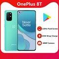 In Lager Oneplus 8T 65W Super Ladegerät 4500mAh Batterie 120HZ Bildschirm Snapdragon 865 NFC 6,55 zoll 48MP Smart Telefon