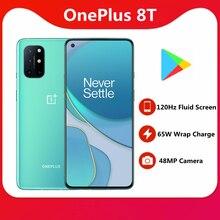 Oneplus smartphone 8T, 65W, batería de 4500mAh, 120HZ, Snapdragon 865, NFC, 6,55 pulgadas, 48MP