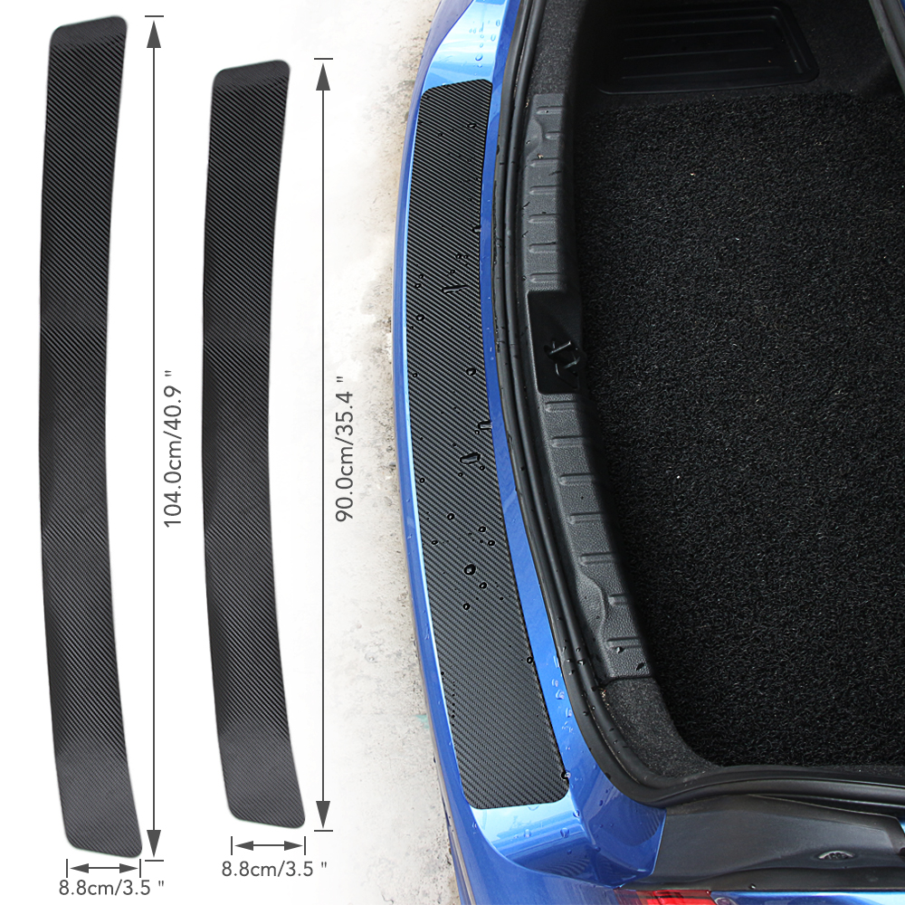 Наклейка на задний бампер автомобильного багажника из углеродного волокна для Skoda Octavia 2 A7 A5 A4 Vrs Fabia 2 1 Rapid Yeti Superb 3 Felicia Citigo RS