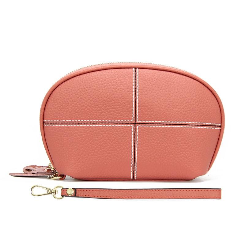 Women Wristlet Wallet Purse Genuine Leather Wallet Female Long Zipper Wallets Card Holder Clutch Ladies Wallets Clutches