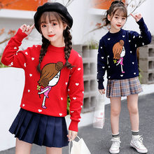 Get more info on the Teenage Pretty Girl Pattern Sweaters For Girls Children Clothing Autumn Knitted Pullover Cotton Sweaters Kids Princess Clothes