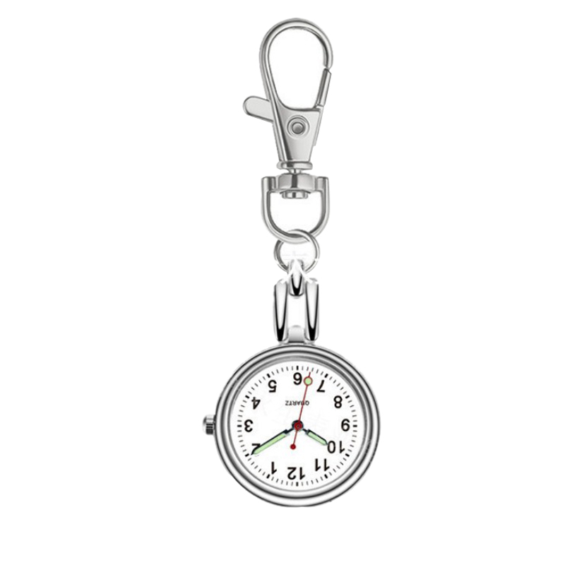 Nurse Pocket Watches Key Chain Luminous For The Aged Pointer Hanging Watches Quartz Movement Student For Test Examination Gifts