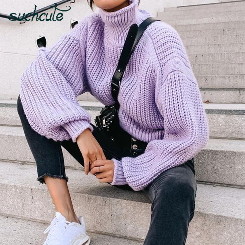 Suchcute Fashion 2020 Sweater Women Pullover Y2k Knitted Turtleneck Jacket Korean Style Lose Weight Top E Girl Autumn Outfits Special Deal Ef8ca Cicig