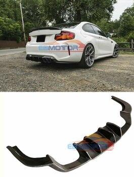 Real Carbon Fiber Rear Bumper Lip Diffuser for BMW F87 M2 Coupe 2 Door B524 1