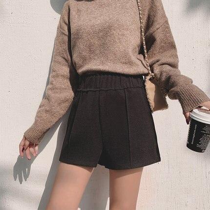 NEW Women's Ladies Trousers Shorts Wear High Waist Wide Leg A Word Waist Hair Loose Comfortable Versatile
