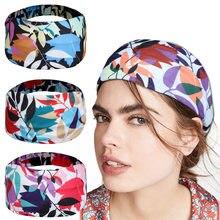 Nova folha bandana com cores contrastantes womensports yoga cabeça faixa de cabelo acessórios para o cabelo