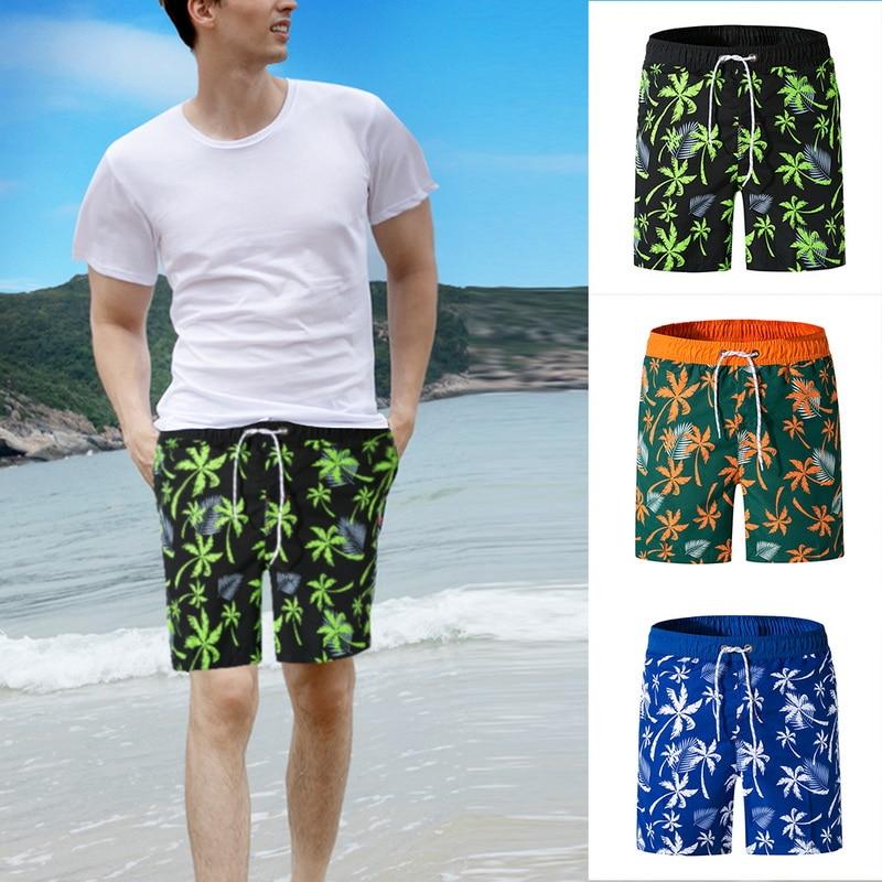 DIHOPE 2020 New Summer Mens Print Beach Board Shorts Swim Surf Swimwear Beach Pants Quick Dry Bermudas Athletic Mens Gym