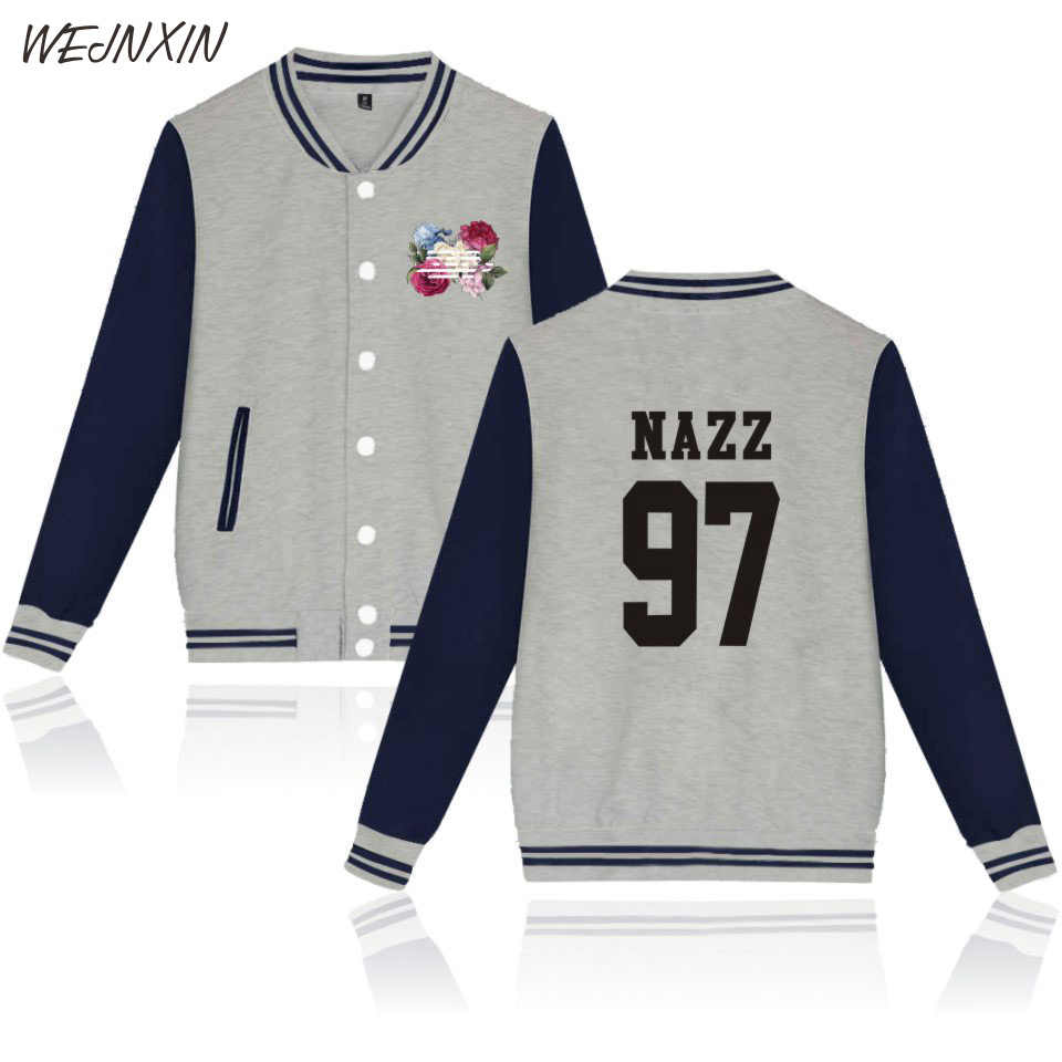 WEJNXIN 2018 BIGBANG Single Breasted Hoodies For Women Men Unisex Streetwear Spring Winter Sweatshirt V-Neck Baseball Clothing