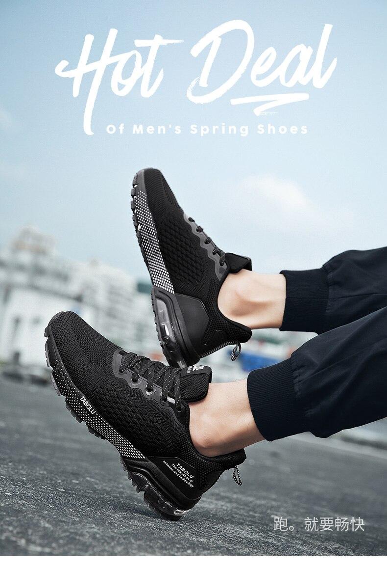 Novo respirável masculino sapatos de treinamento de