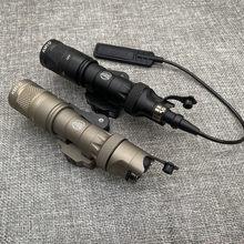 Airsoft tático lanterna surefir m323v 500 lumen rifle scout caça luz arma airsoft luz