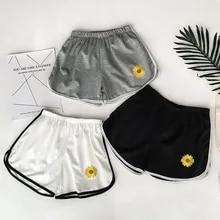 Summer Shorts Elastic Fitness Workout Body Women Slim Casual Skinny Beach-Egde Hot-Print
