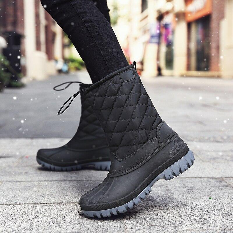 Зимние ботинки; Мужские ботинки с высоким берцем; Обувь для охоты на утке; Мужская обувь из искусственной кожи в английском стиле; Chaussure Hiver ...