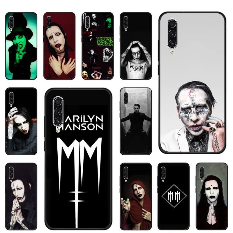 FASHION tattoo marilyn manson Phone Case For Samsung galaxy S 7 8 9 10 20 edge A 6 10 20 30 50 51 70 note 10 plus Soft  Funda