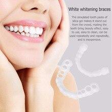 Upper & Lower Teeth Veneers Anti-true Braces Snap On Smile Teeth Whitening Denture Teeth Comfortable Veneer Cover Teeth