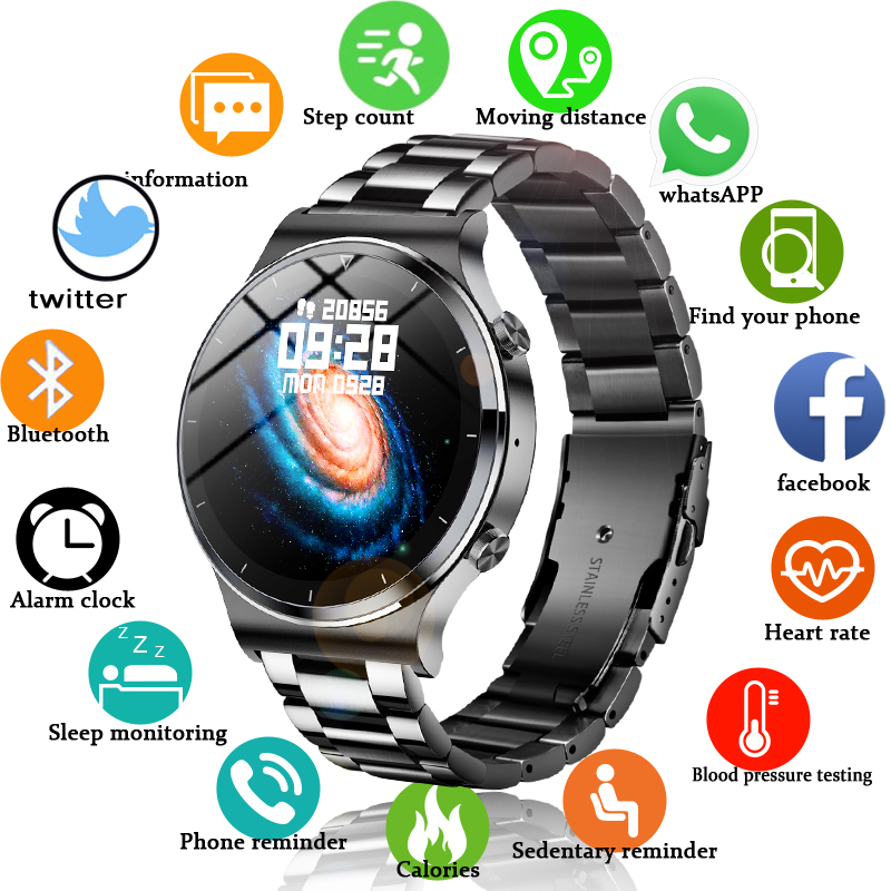 LIGE Brand Men Sport Watches Bluetooth call Digital LED Electronic Wristwatches Waterproof Swimming Activity tracker clock Watch