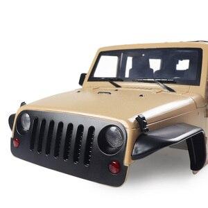 Image 4 - RC 1/10 Jeep Wrangler JK Rubicon 4 Kapı Sert Vücut Shell Kiti 313mm Dingil Mesafesi Paletli Arabalar Eksenel SCX10 90046 90047 RGT EX86100