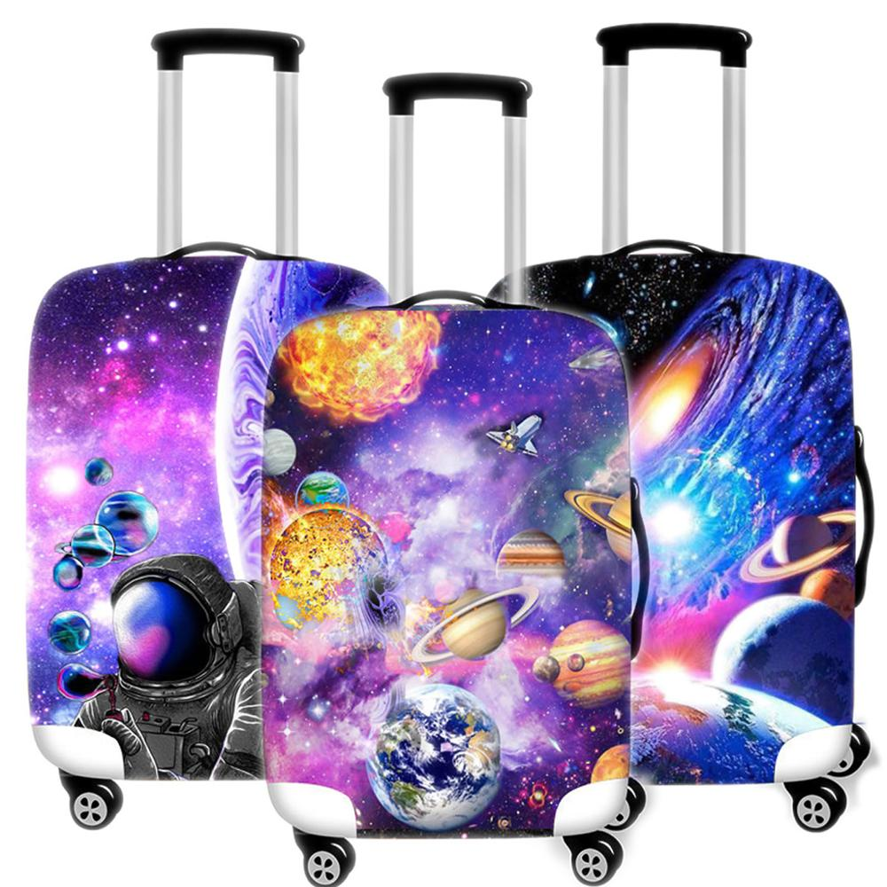 3D Starry Sky Suitcase Case Protective Cover Travel Luggage Thicken Dust Cover Accessories Suitcases Organizer 18-32 Inche