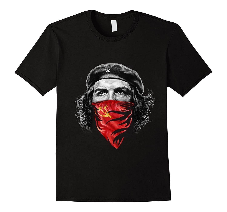 Че Гевара w советская молот и серп Красная Бандана хлопковая футболка|Футболки|   | АлиЭкспресс
