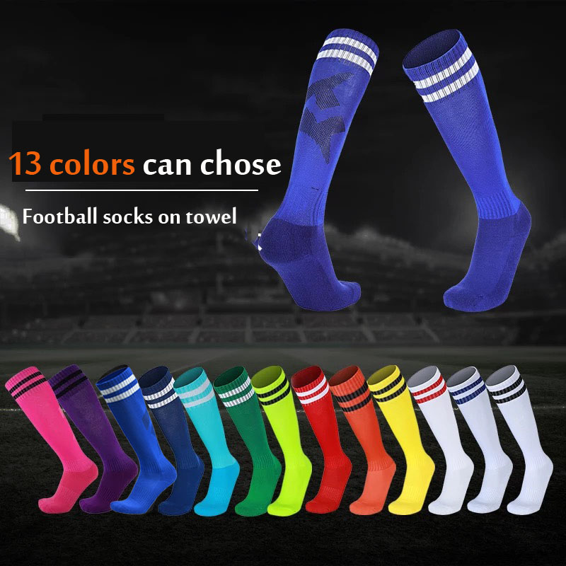 13 Colors Adult Kids Sport Socks Running Socks Women Man Cotton Polyester Stocking Sports Football Soccer Sock Anti Slip