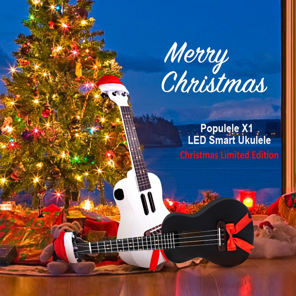 23 Inches Populele X1 Christmas Limited Edition Maple Ukulele Micro USB Bluetooth 4.0 800mAh Battery ( International Version )