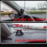 Obd+gps smart gauge with 270 degre