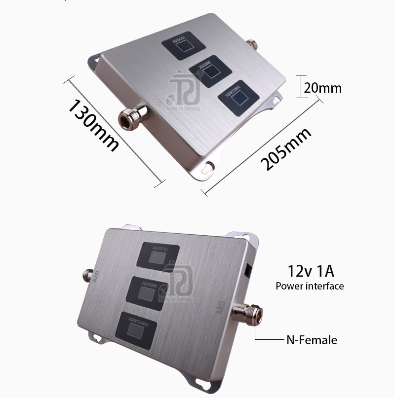 Car Use Tri-Band Cellular Amplifier 900/1800/2100mhz 2G 3G 4G Mobile Signal Booster DCS GSM WCDMA GSM Repeater 2G 3G 4G 6