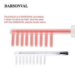 Darsonval 1 pçs de alta frequência pente facial tubo vidro cabelo massageador eletrodo bicos luz laranja rosto cuidados com a pele dispositivo beleza