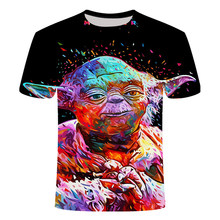 Newest 3D Printed star wars t shirt Men Women Summer Short Sleeve Funny Top Tees Fashion Casual clothing Asia Size 3 D T-shirt(China)