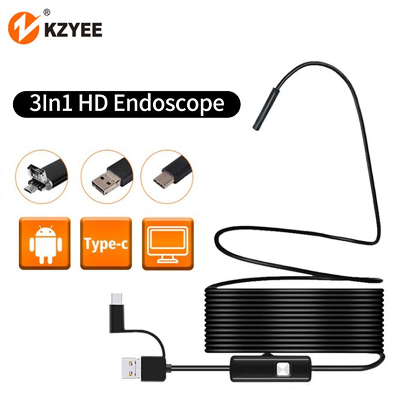 Typ-C USB Ohr Laptop E6C7 Endoskop 3in Inspektionskamera Micro USB