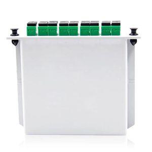 Image 5 - Darmowa wysyłka10pcs/lot kaseta typu wstawiania rozdzielacz światłowodowy Box 1x8 SC/APC kaseta typu wstawiania rozdzielacz światłowodowy
