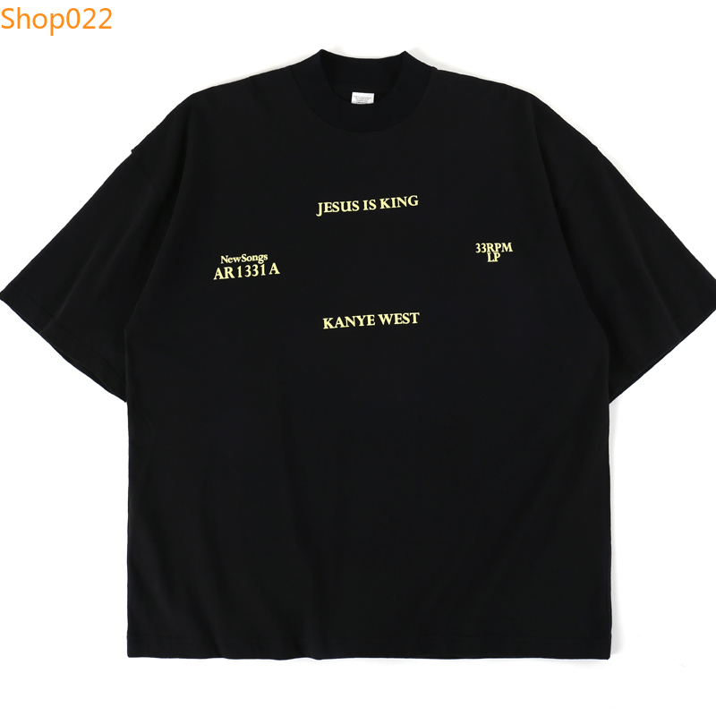 Jesus Is King Kanye West T Shirt New Songs 1331A Letter Print T-shirt Kanye Man Summer Style Tee image