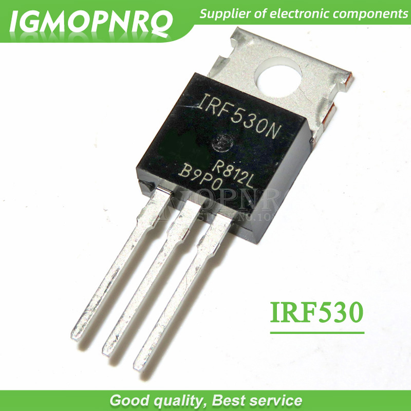 10PCS IRF530N IRF530 IRF530NPBF MOSFET MOSFT 100V 17A 90mOhm 24.7nC TO-220 New Original