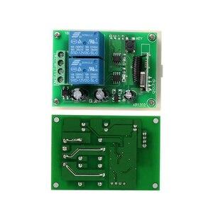 Image 4 - Универсальный беспроводной пульт дистанционного управления QIACHIP, 433 МГц, 12 В постоянного тока, 2 канальный модуль релейного приемника + 2 канальный радиочастотный 433 МГц, дистанционный передатчик