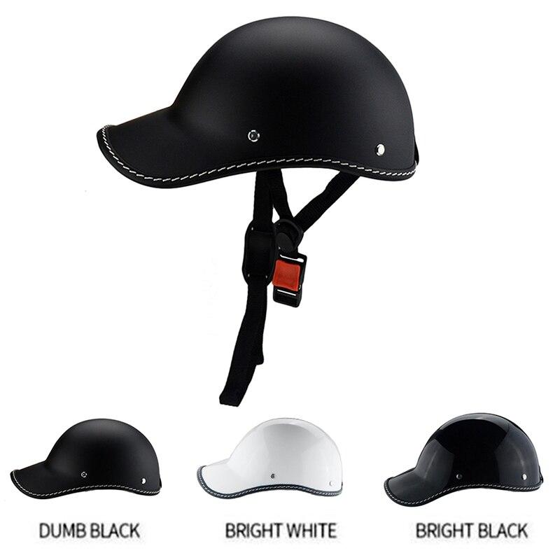 1 шт. мотоциклетная полулицевая Винтажная летняя шлем шляпа Кепка для мужчин и женщин мотокросса мотогонок белый/черный