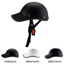 1PC Motorcycle Half Face Vintage Summer Helmet Hat Cap Men Women Motorcross Moto Racing White/Black