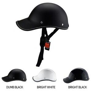Image 1 - 1PC Motorcycle Half Face Vintage Summer Helmet Hat Cap Men Women Motorcross Moto Racing White/Black
