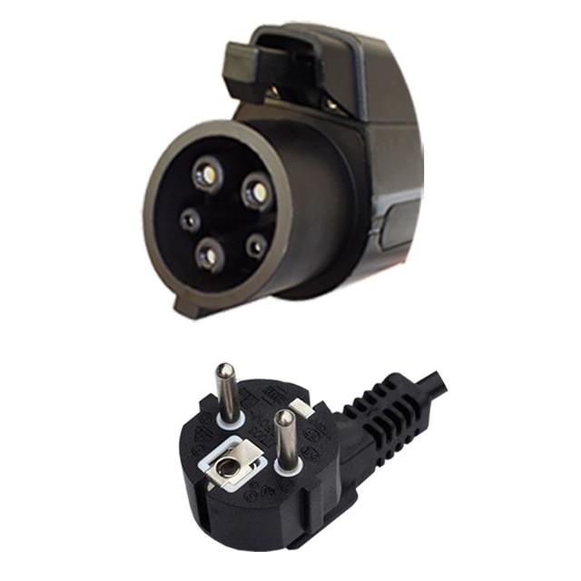 7.6 Metros pés 25 SAE J1772 AC Nível 2 Carregamento Conector Acoplador Tipo 1 Elétrica Veículo Carro Carregador Portátil 3
