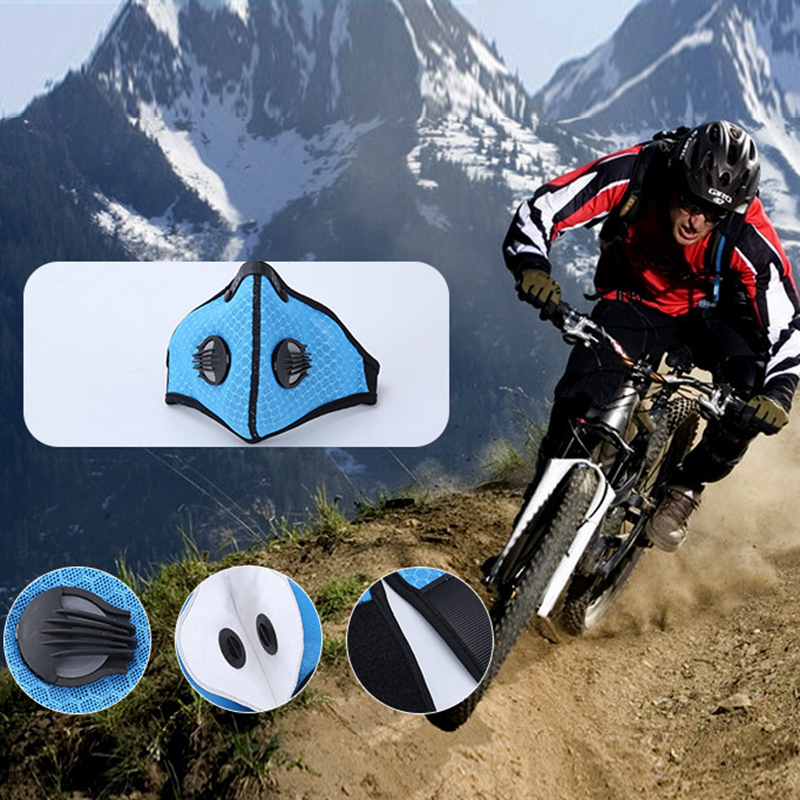 Outdoor Sports Riding Mask Dustproof Filters Cycling Mask Anti Fog Activated Carbon Face Mask Safety Protection Traveling Mask