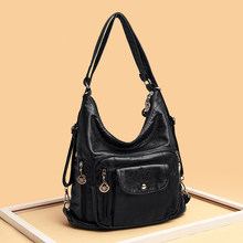 Sheepskin fabric Women Shoulder Bags High Quality Multifunction Women Back Pack For Students School Travel Bags Large Capacity