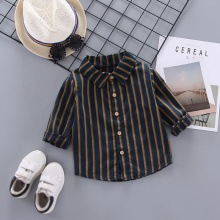 Baby Boy Blouse 0-4T New Autumn Cute Toddler Baby Boys Long Sleeve Striped Print Blouse Kids Tops Blouse Casual Blouse blouse 0855500 21