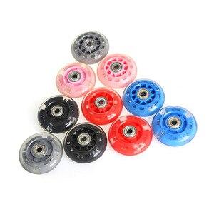 4 шт. 70 мм высокоэластичные роликовые скейты, скользящие колесные ролики для катания, прочные Сменные аксессуары для роликовых коньков