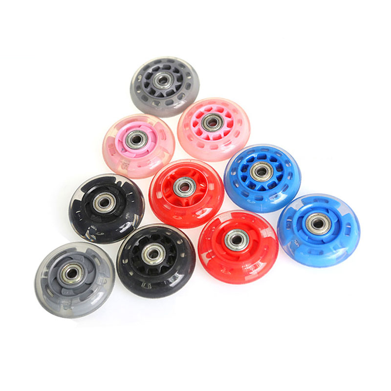 4PCS 70mm High Elasticity Inline Roller Skate Wheels Sliding Skating Wheel Rollers Durable Rollerblade Replacement Accessories
