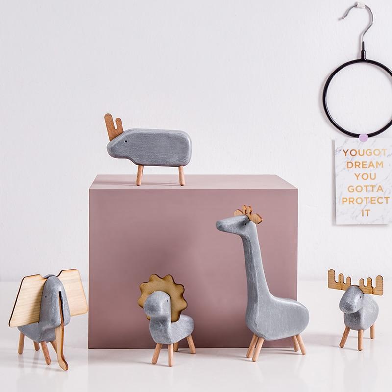 Скандинавские фигурки животных из смолы, креативные европейские фигурки животных жирафа, носорога, слона, лося, Льва, украшения для дома|Статуэтки и миниатюры|   | АлиЭкспресс - Фигурки для декора в сканди-стиле