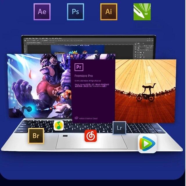 Max RAM 36GB Rom 2TB SSD Ultrabook Metal Computer 2.4G/5.0G Bluetooth Ryzen R7 2700U windows10 Metal portable gaming laptop 2