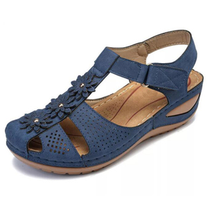 Image 5 - BEYARNEPlus size fashion flower summer sandals for women wedge beach shoes Woman Comfortable high heel shoes lightweight platfor