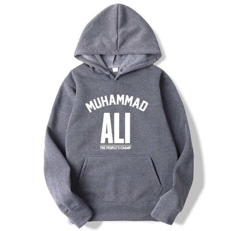 Fashion Brand Men's Hoodies Muhammad Ali Printing Blended Cotton  Spring Autumn Male Casual Hip Hop Hoodies Sweatshirts  Hoodie