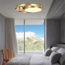 Скандинавский полностью медный потолочный светильник круглый